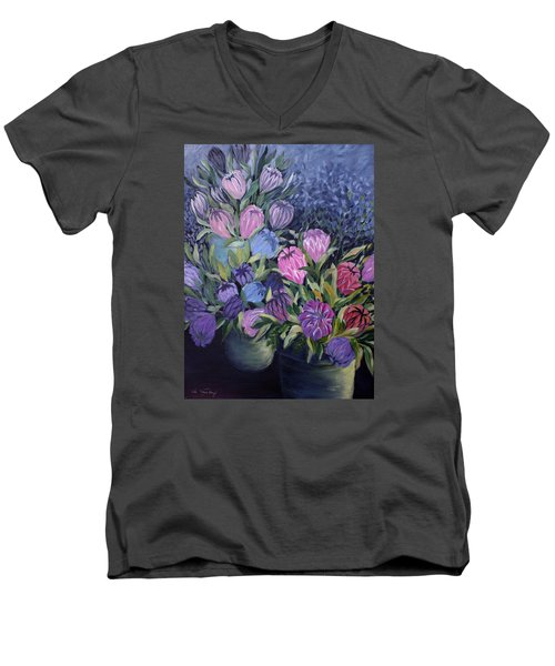 Palm Springs Market Favorites Men's V-Neck T-Shirt by Joanne Smoley