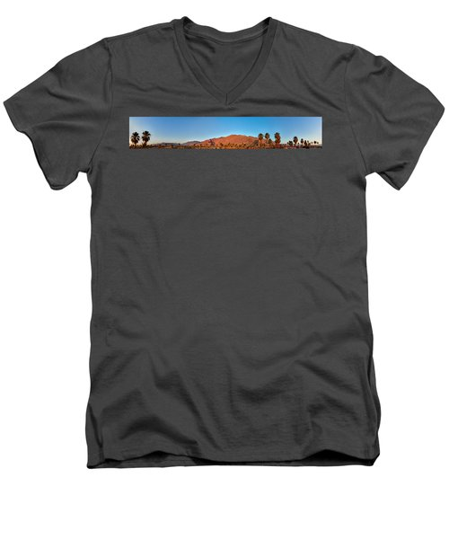 Palm Springs Sunrise Men's V-Neck T-Shirt