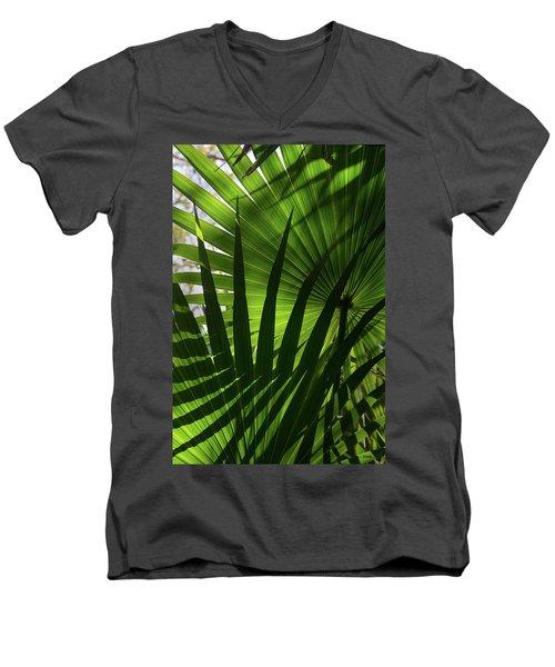 Palm Study 1 Men's V-Neck T-Shirt by Dana Sohr