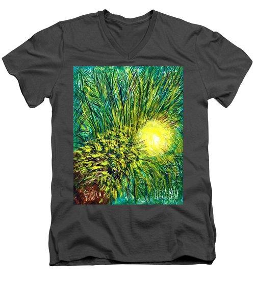 Palm Sunburst  Men's V-Neck T-Shirt