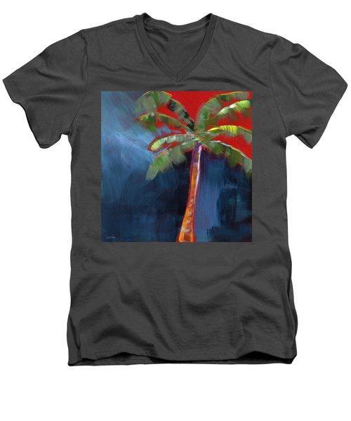 Palm Tree- Art By Linda Woods Men's V-Neck T-Shirt