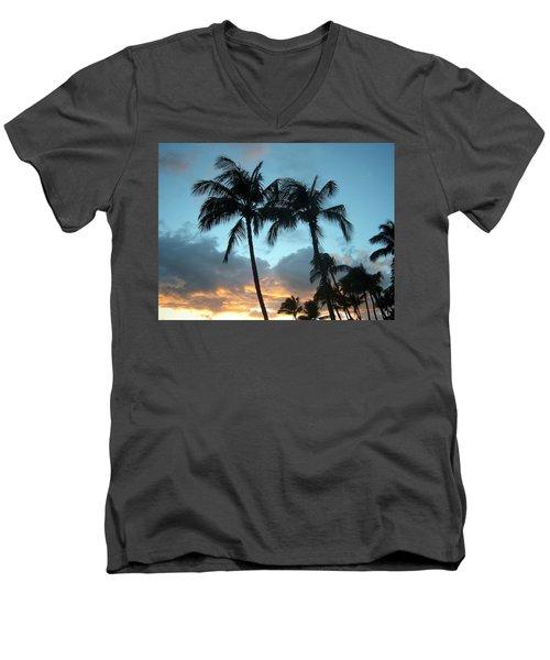 Palm Trees At Sunset Men's V-Neck T-Shirt