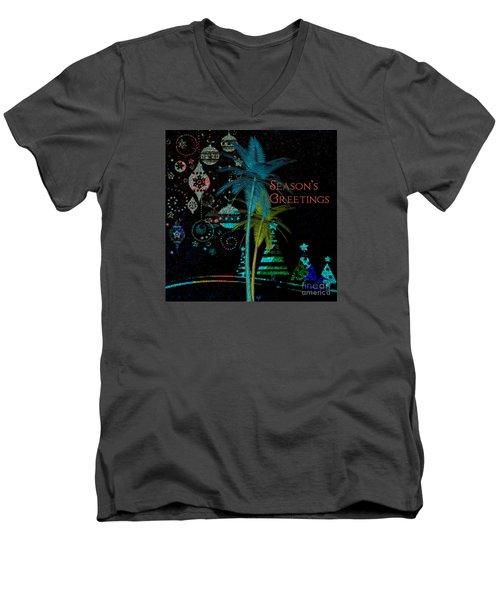 Palm Trees Season's Greetings Men's V-Neck T-Shirt