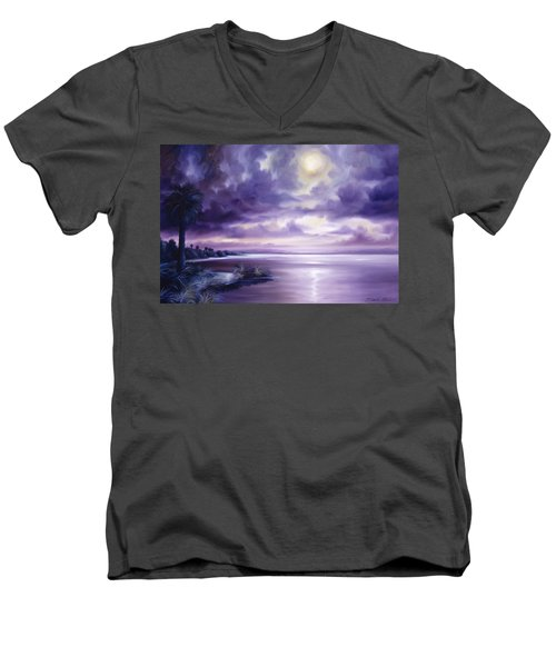 Palmetto Moonscape Men's V-Neck T-Shirt