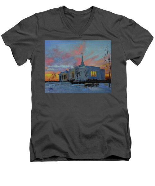 Palmyra Temple At Sunset Men's V-Neck T-Shirt