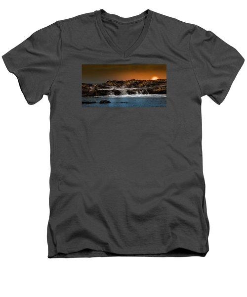Palos Verdes Coast Men's V-Neck T-Shirt by Ed Clark