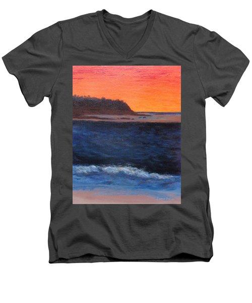 Palos Verdes Sunset Men's V-Neck T-Shirt by Jamie Frier