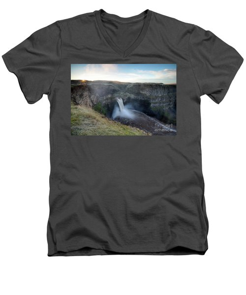 Palouse Falls Sunrise Men's V-Neck T-Shirt