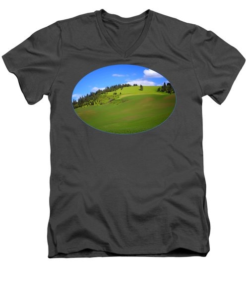 Palouse - Landscape - Transparent Men's V-Neck T-Shirt