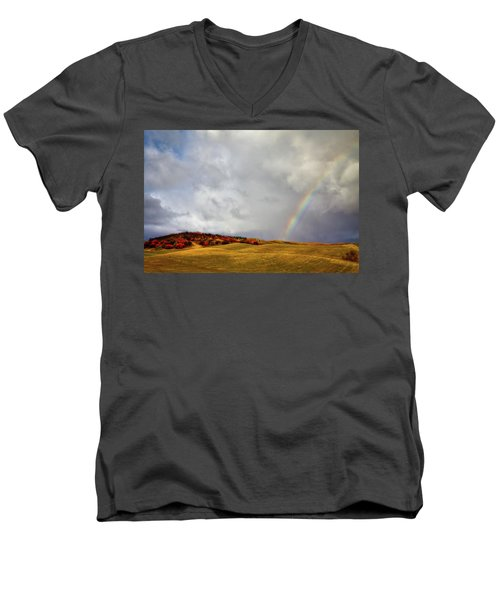 Palouse Rainbow Men's V-Neck T-Shirt