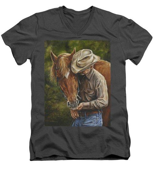 Pals Men's V-Neck T-Shirt by Kim Lockman
