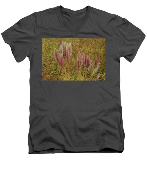 Men's V-Neck T-Shirt featuring the photograph Pampas Grass by Athala Carole Bruckner
