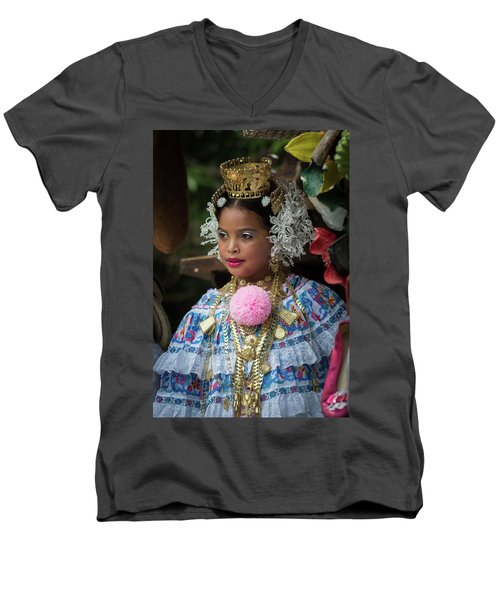 Panamanian Queen Of The Parade Men's V-Neck T-Shirt