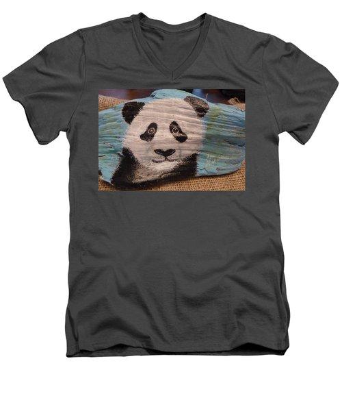 Panda Men's V-Neck T-Shirt