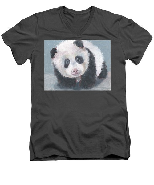 Panda For Panda Men's V-Neck T-Shirt by Jessmyne Stephenson