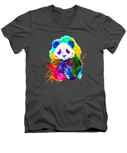 Panda Splash Men's V-Neck T-Shirt