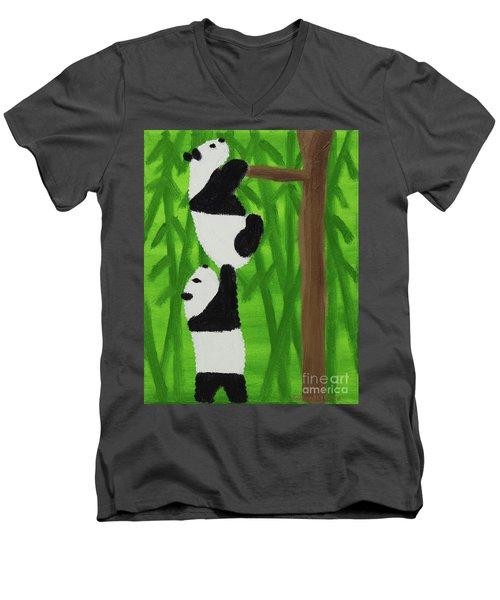 Pandas Men's V-Neck T-Shirt
