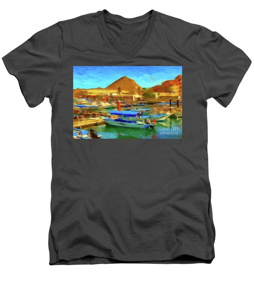 Pangas With Land's End Men's V-Neck T-Shirt by Gerhardt Isringhaus