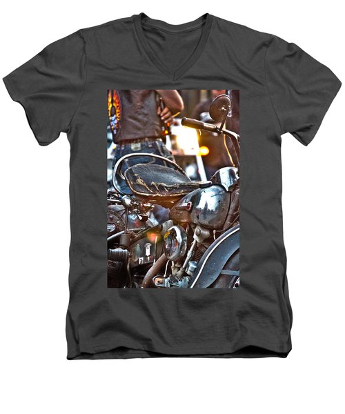 002 - Panhead Men's V-Neck T-Shirt