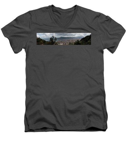 Panorama Palermo Men's V-Neck T-Shirt by Patrick Boening