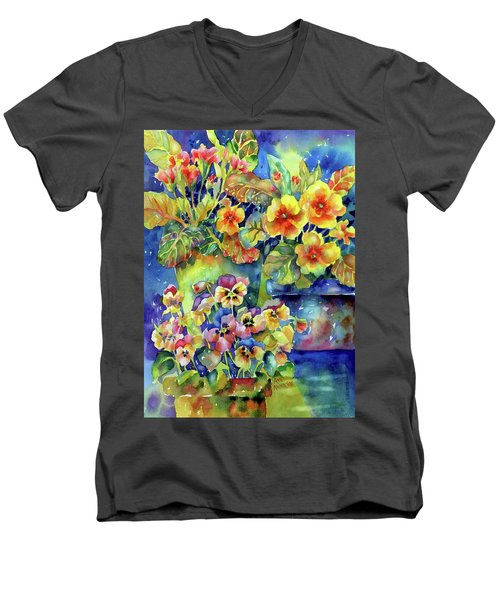 Pansies And Primroses Men's V-Neck T-Shirt