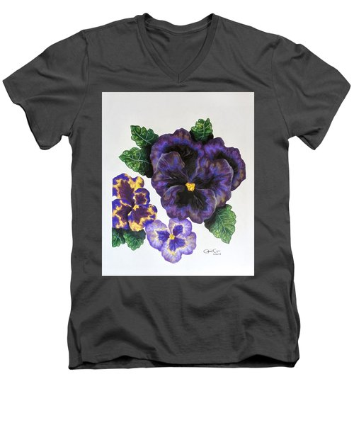 Pansy Men's V-Neck T-Shirt
