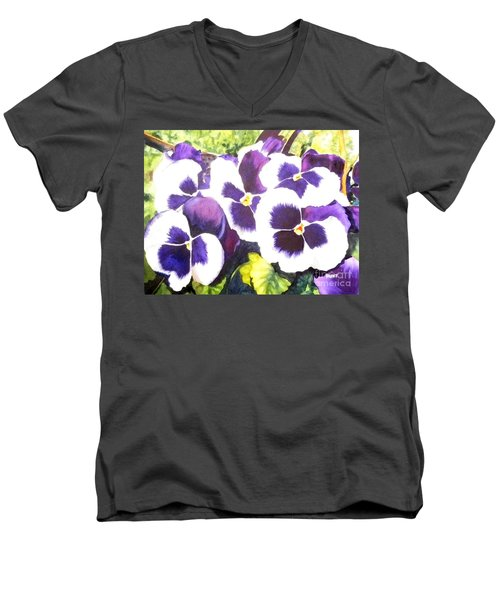 Pansy Party Men's V-Neck T-Shirt