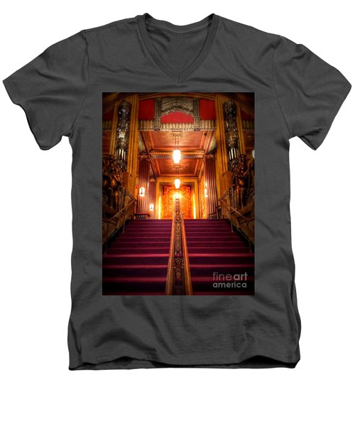 Pantages Theater's Grand Staircase Men's V-Neck T-Shirt