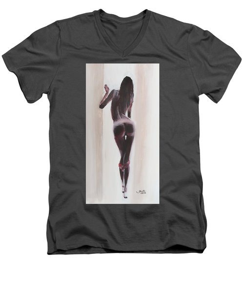 Panties Down Men's V-Neck T-Shirt by Jarko Aka Lui Grande