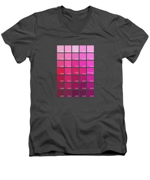 Pantone Shades Of Pink Men's V-Neck T-Shirt
