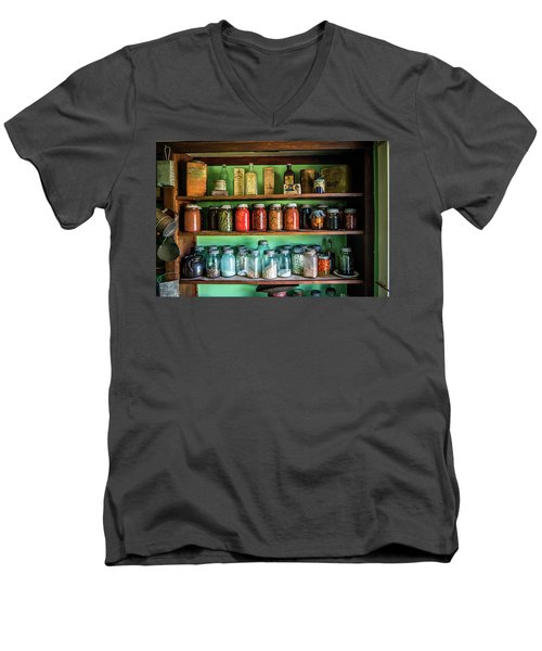 Men's V-Neck T-Shirt featuring the photograph Pantry by Paul Freidlund