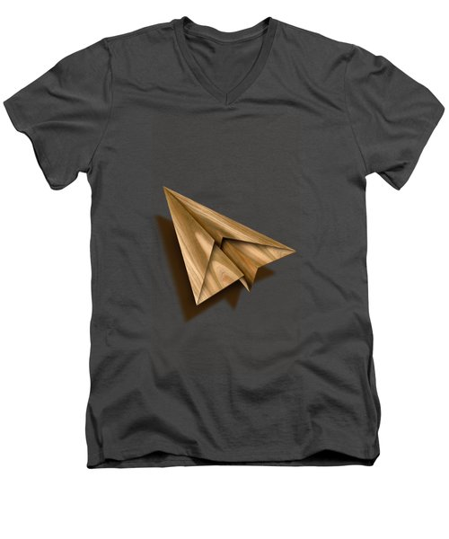 Paper Airplanes Of Wood 1 Men's V-Neck T-Shirt by YoPedro