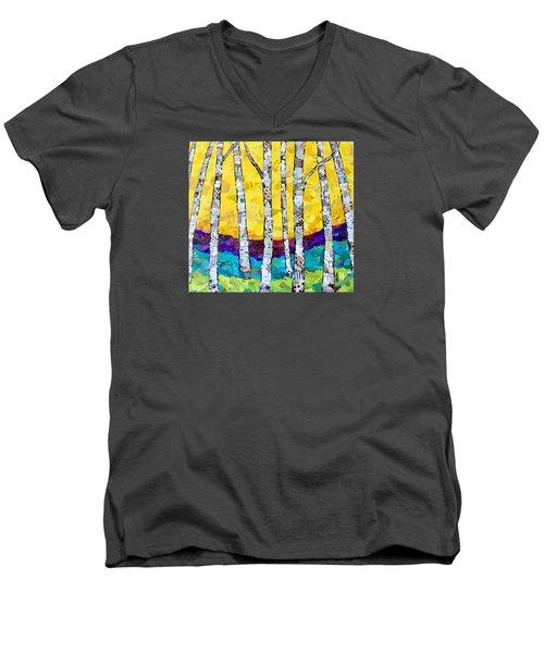 Paper Birch 2 Men's V-Neck T-Shirt