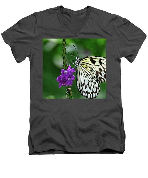 Paperkite Butterfly Closeup Men's V-Neck T-Shirt