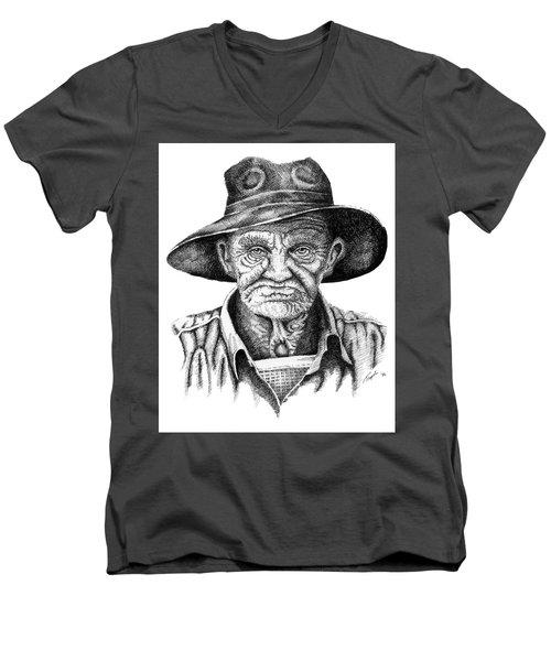Pappy Men's V-Neck T-Shirt by Lawrence Tripoli