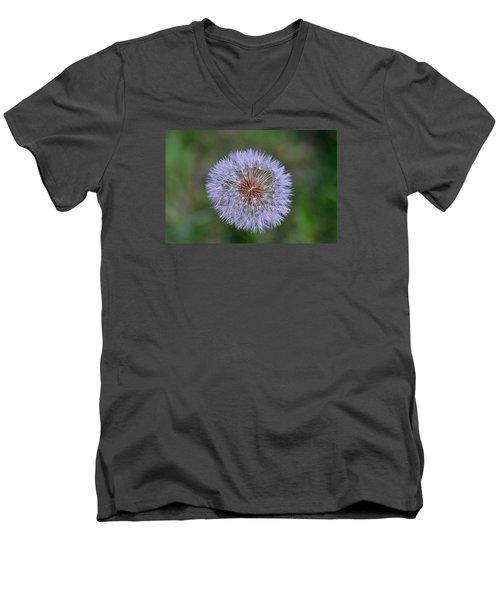 Parachute Club- Dandelion Gone To Seed Men's V-Neck T-Shirt by David Porteus