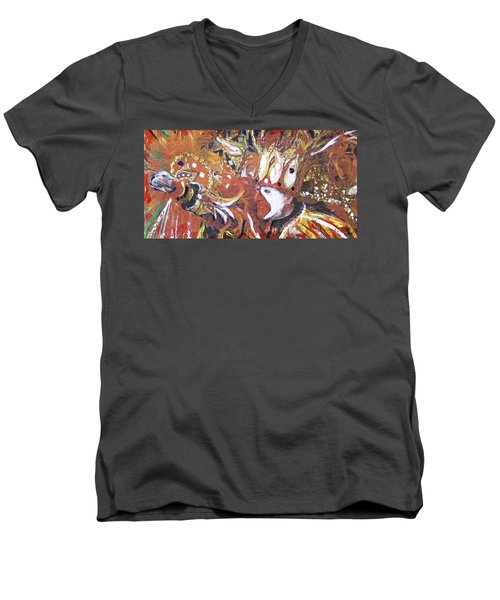 Leader Of The Mardi-gras Men's V-Neck T-Shirt by Gary Smith