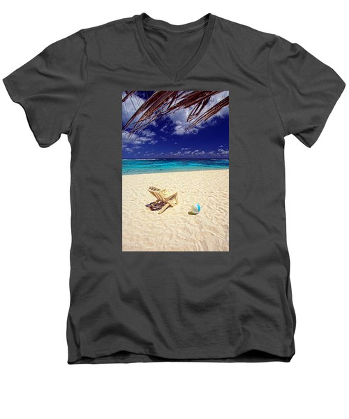Paradise Beach Ball Men's V-Neck T-Shirt