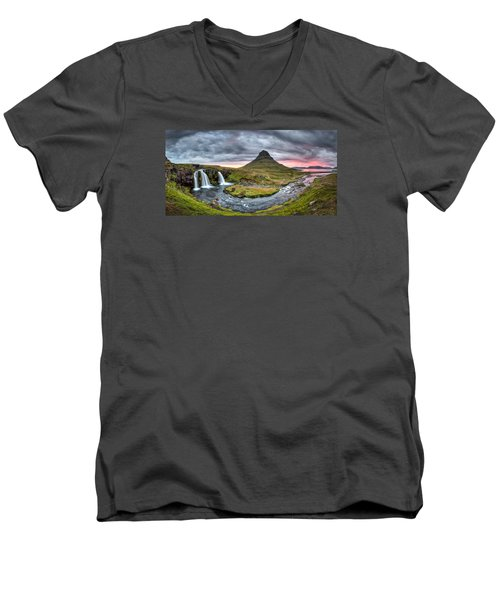 Paradise Found - Panorama Men's V-Neck T-Shirt by Brad Grove