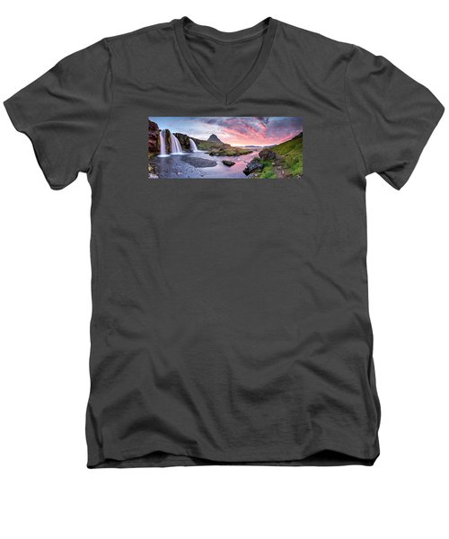 Paradise Lost - Large Panorama Men's V-Neck T-Shirt by Brad Grove