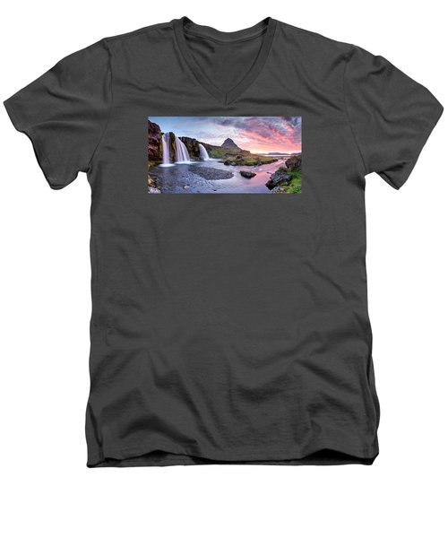 Paradise Lost - Panorama Men's V-Neck T-Shirt by Brad Grove