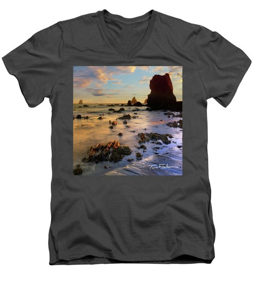 Paradise On Earth Men's V-Neck T-Shirt by Tim Fitzharris