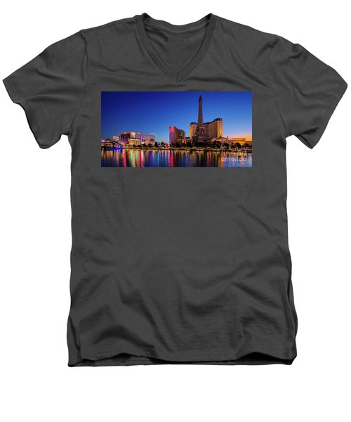 Paris Casino At Dawn 2 To 1 Ratio Men's V-Neck T-Shirt