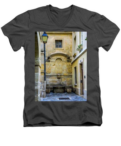 Paris Corner Le Marais Men's V-Neck T-Shirt by Sally Ross