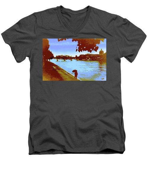 Paris In The Rain Men's V-Neck T-Shirt
