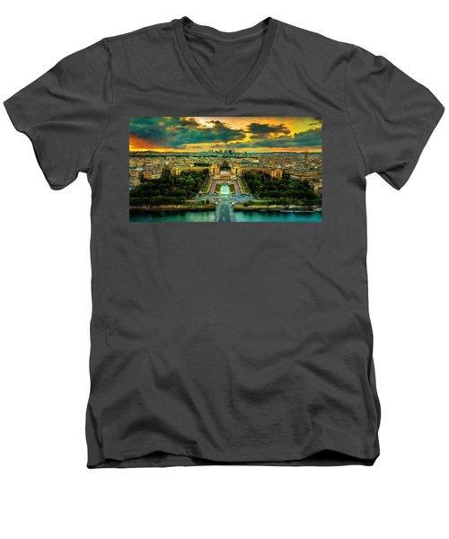 Paris Landscape Men's V-Neck T-Shirt