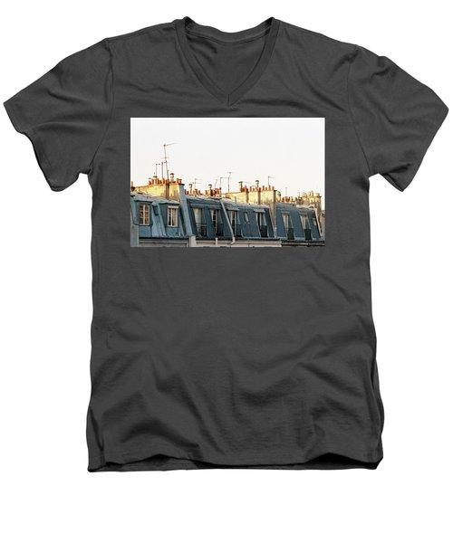 Paris Rooftops Men's V-Neck T-Shirt