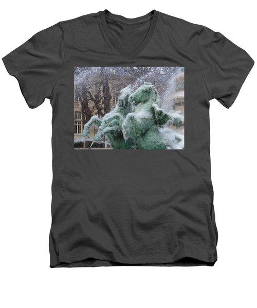Paris Winter Men's V-Neck T-Shirt