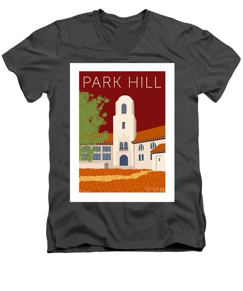 Park Hill Maroon Men's V-Neck T-Shirt