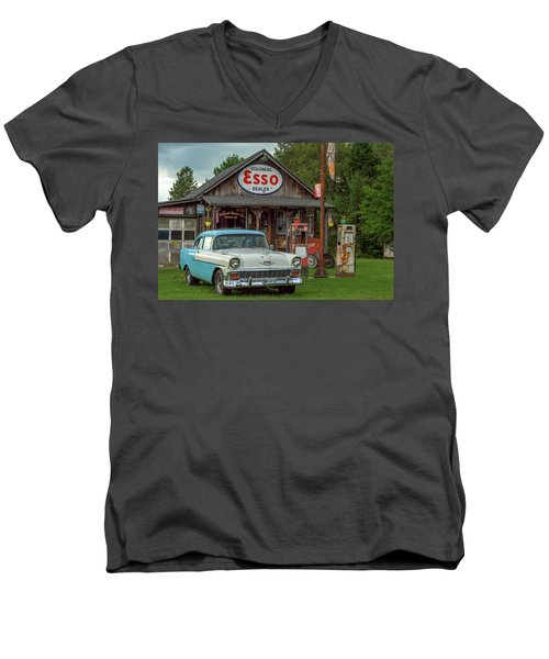 Parked At Ferland Motor Company Men's V-Neck T-Shirt